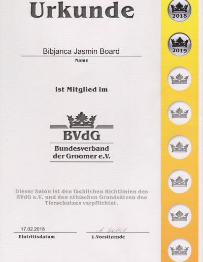 Urkunde BVDG